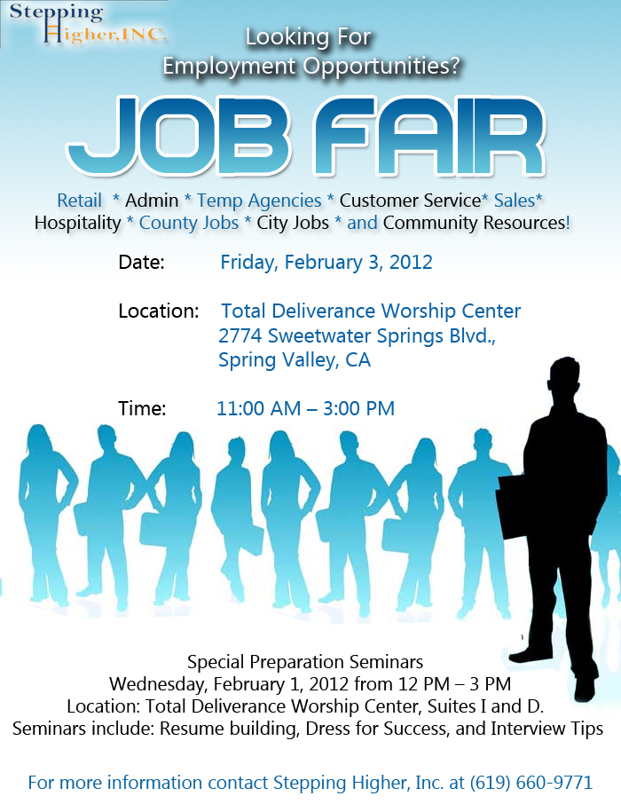 Stepping Higher Job Fair - St. Stephen's Cathedral Church Of God ...